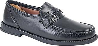 Roamers Mens Black Soft Leather Saddle Moccasin Casual Shoe - Black - size UK Mens Size 11