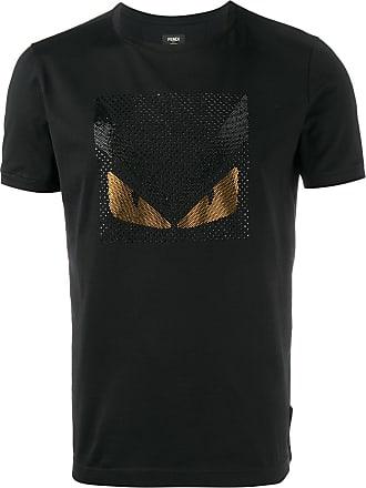Fendi Camiseta com aplicação de cristal - Preto