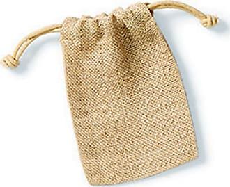 Westford Mill Jute Rope Close Plain Stuff Bag (XXS) (Natural)