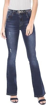 2da0cd7a4 Biotipo Calça Jeans Biotipo Flare Pespontos Azul