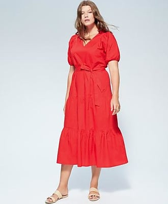 Violeta by Mango Ruffled midi dress