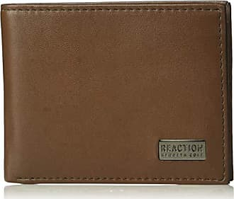 Kenneth Cole Reaction Mens RFID Blocking Security Slimfold Wallet, -brown, One Size