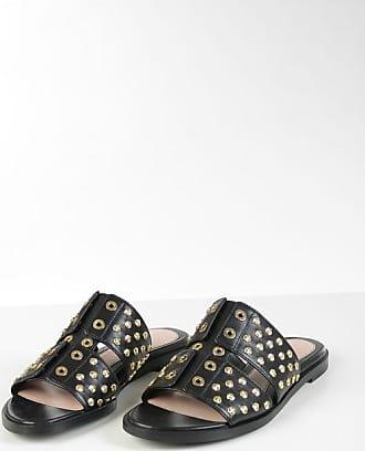 Alexander McQueen Studded Leather Slides Größe 36