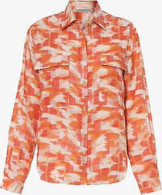 Three Graces London Willow Shirt in Abstract Ikat