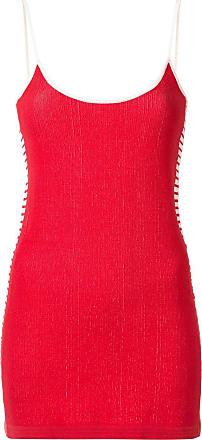Nagnata Vestido com listras - Vermelho