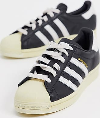 adidas Originals Superstar 80s sneakers in black and white