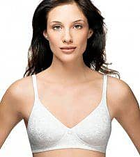 Warner's Womens Daisy Lace 2-Ply Wirefree Bra, White, 36D