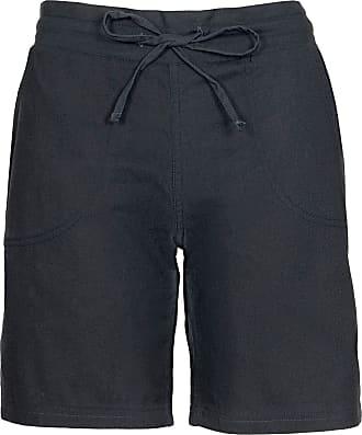Noroze Womens Summer Linen Shorts Holiday Beach Soft Hotpants (Black, 8)