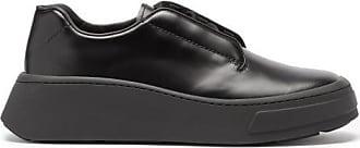 Prada Chunky-sole Logo-debossed Leather Derby Shoes - Mens - Black