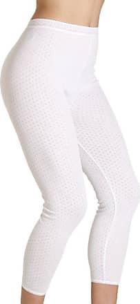 Camille Womens Viloft Blend Lightweight Thermal Leggings White 14/16