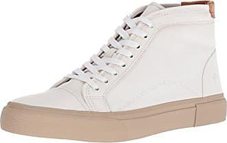 Frye Mens Ludlow Cap Toe HIGH Sneaker, White, 11 M M US