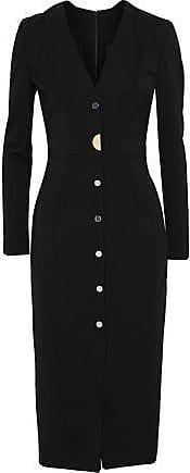 38c6930ab061 Cushnie et Ochs Cushnie Et Ochs Woman Paola Button-embellished Stretch-crepe  Dress Black