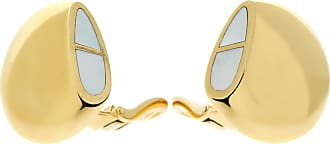 Hermès Mother of Pearl 18k Yellow Gold Earrings