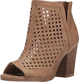 Womens Sugar Realness Perforated Block Heel Ankle Boot