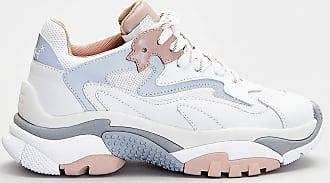 Ash sneakers in pelle dettagli rosa - bianco