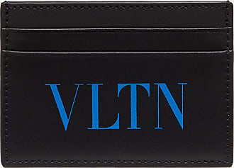Valentino Garavani Valentino Garavani Uomo Portacarte Vltn Uomo Nero/azzurro Fluo 100% Pelle Bovina - Bos Taurus OneSize