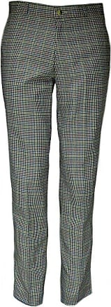 Relco Mens Tweed Multi Coloured Check Slim Fit Sta-Press Mod Trousers Size 36 Beige