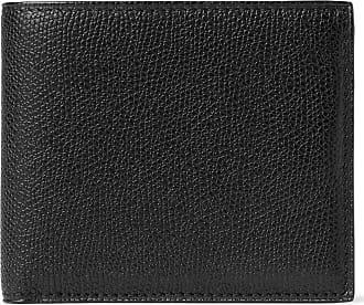 Valextra Pebble-grain Leather Billfold Wallet - Black
