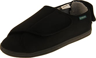 Footwear Studio Dunlop Mens Black Ortho Slippers, Black, 12 UK