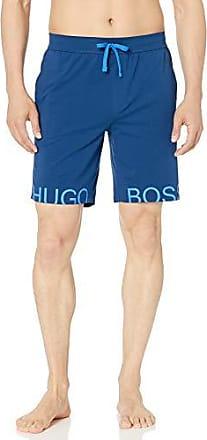 BOSS Identity Logo Men/'s Shorts Light Grey Melange