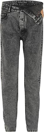 Y / Project Asymmetric Straight-leg Jeans - Charcoal