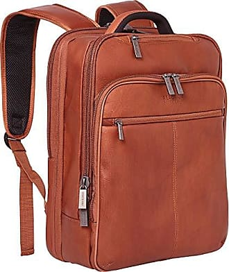 Kenneth Cole Reaction Kenneth Cole Reaction Manhattan Colombian Leather Slim 16 Laptop Checkpoint-Friendly Anti-Theft RFID Business Backpack