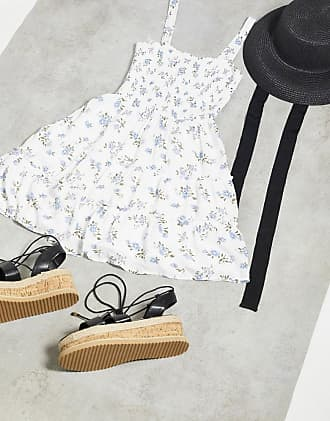 Hollister cami dress in all over floral print-White