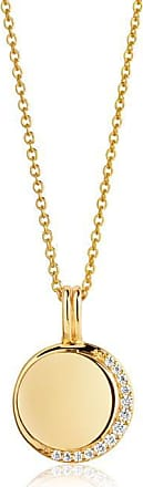 Sif Jakobs Jewellery Halskette Portofino - 18K vergoldet mit weißen Zirkonia