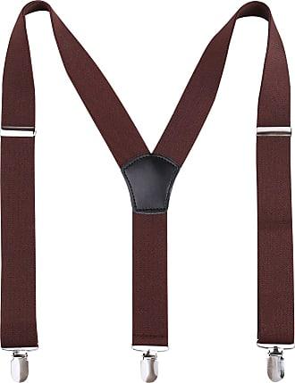 Alizeal 2.5CM Unisexs Bow tie /& Suspender Sets 2.5cm wide, Maroon