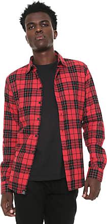 Triton Camisa Triton Xadrez Vermelha/Preta
