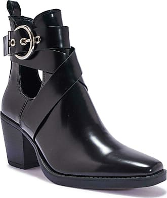 Truffle Womens Wide Fit Ankle White Shoe Boots Western Wider Fitting Boot Shoes - Black - UK 7