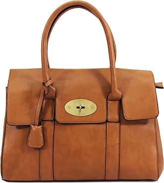 Your Dezire YDezireWomens Designer Frame Office Tote Bag Ladies Handbag Work Shoulder Bag New UK (Brown)