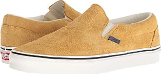 Vans UA Classic Slip-On ((Hairy Suede) Sunflower/Snow White) Shoes