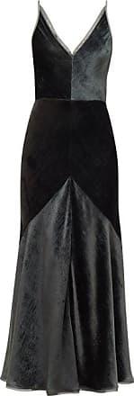 Gabriela Hearst Bridget Silk-velvet Midi Dress - Womens - Khaki