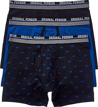 Original Penguin Original Penguin Mens Cotton Stretch Boxer Brief Underwear, Multipack, Skyc/Cblu/Skcar, Medium