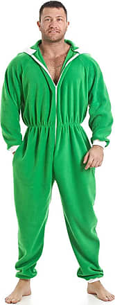 Camille Mens Plain Hooded Onesies XXXXL Green Elf