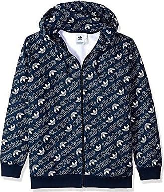 adidas Originals Mens Monogram Full-Zip Hoodie, Collegiate Navy, M