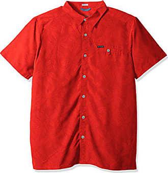 9baa20b792c Columbia Mens Big-Tall Declination Trail II Short Sleeve Shirt, Sunset Red  Floral Lines