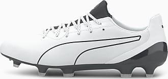 Puma King Platinum Lazertouch FG/AG Mens Football Boots, White/Black, size 10.5, Shoes