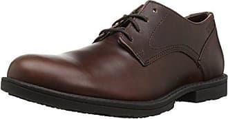 Wolverine Mens Bedford Soft-Toe Oxford SR Food Service Shoe, Brown, 10.5 Extra Wide US