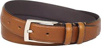 Florsheim Mens Italian Full Grain Leather Single Stitched Edge 32MM, Cognac, 40