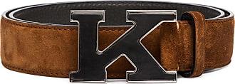 Kiton Wildledergürtel mit K-Schnalle - Braun