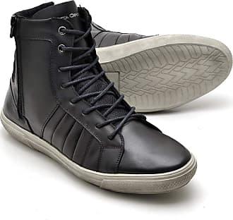 Di Lopes Shoes Sapatênis Cano Alto 100% Couro (43, Preto)