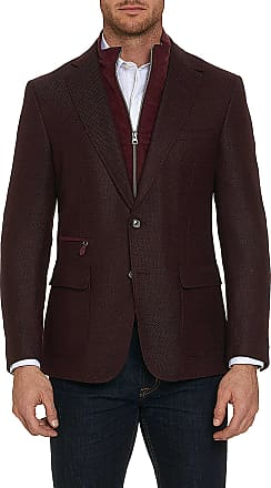 Robert Graham Mens Downhill Sport Coat Long In Black with Removable Zipper Size: 38L by Robert Graham