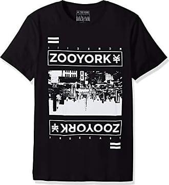 Zoo York Mens Short Sleeve Crew Neck Shirt, Reflector Black Medium