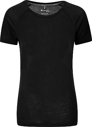 Mountain Warehouse IsoCool Womens Technical T-Shirt - Round Neck Tee Shirt, Short Sleeves Shirt, UV Protected Ladies Winter Top Black 28