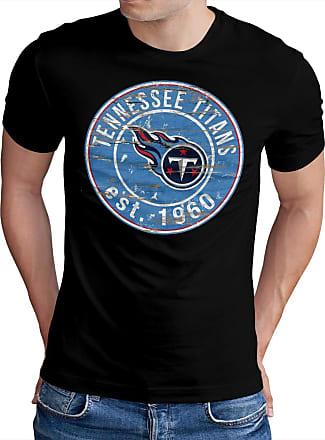 OM3 Tennesse-Badge - T-Shirt | Mens | American Football Shirt | XL, Black