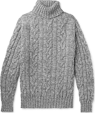 80d94ce525c158 Kingsman Cable-knit Wool And Cashmere-blend Rollneck Sweater - Gray