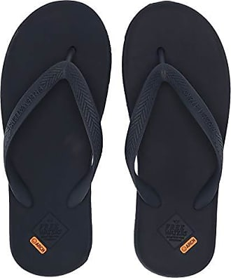 Freewaters Mens Archie Lightweight Vegan Water-Friendly Zori Flip Flop Sandal with Arch Support, Navy, 7 Medium US