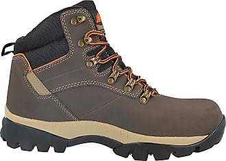 Groundwork Mens Safety Steel Toe Cap Durable Combat Lace Up Work Wear Boots Shoes Size 7-13 (UK 11/ EU 45, Brown/Orange)